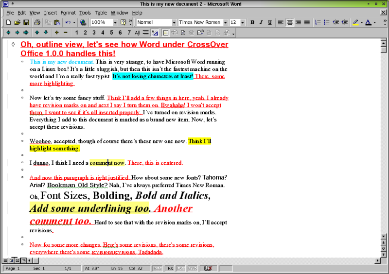 tick box in word document