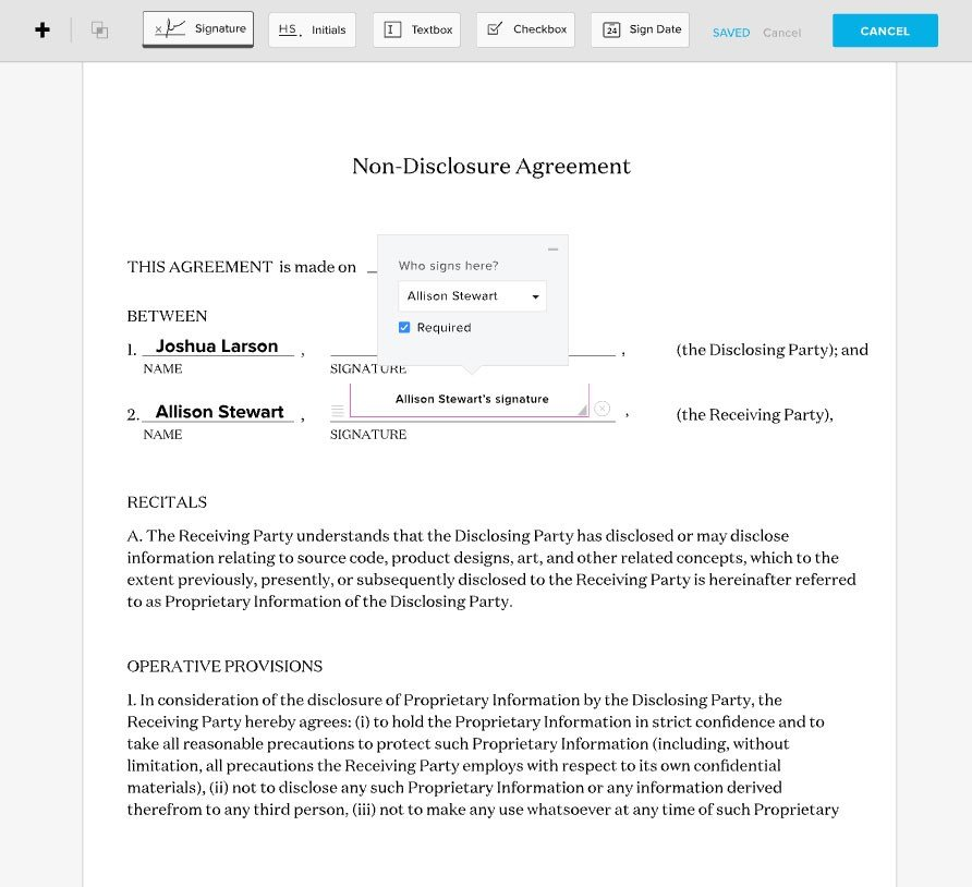 free document signing app for ipad