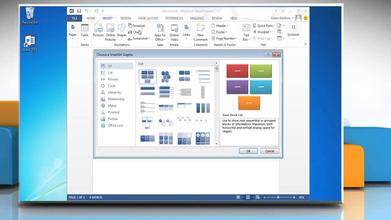 how to create a word document