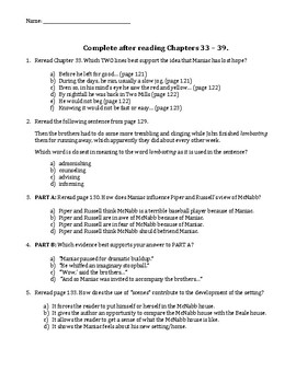 list the major chapters of the cca 51 document