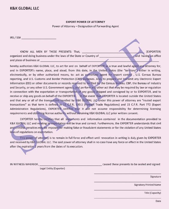 what is power of attorney documentation for ups
