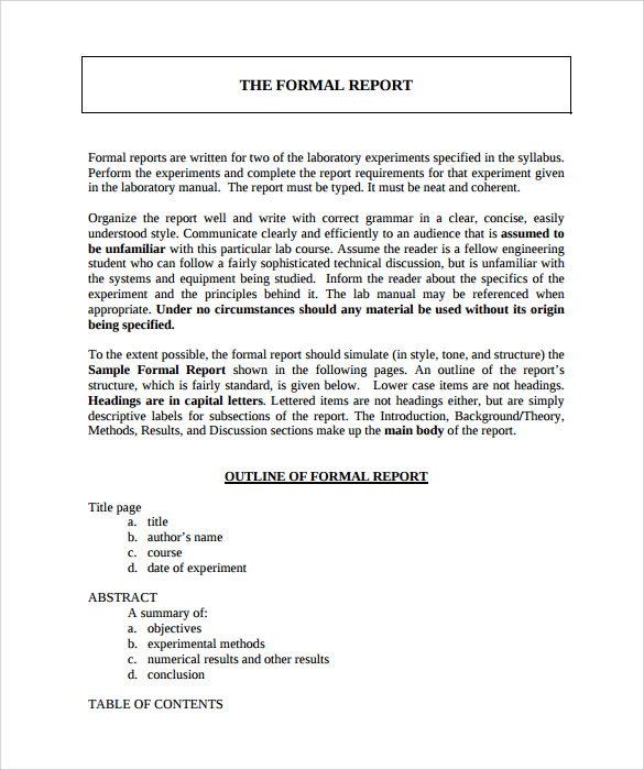 how to write a formal document