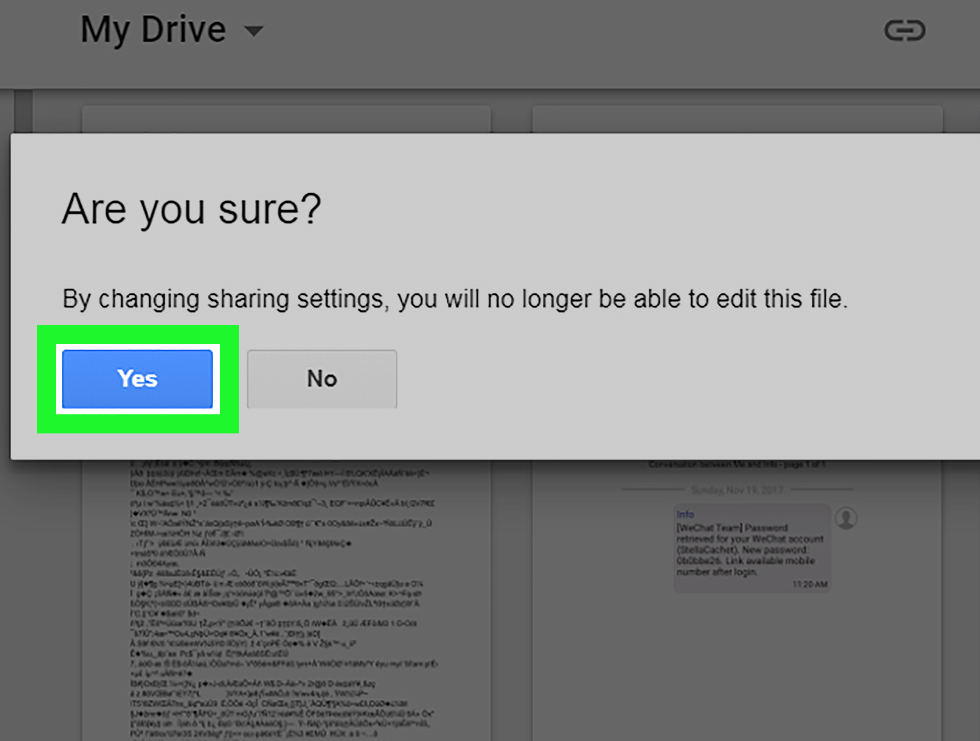 how to share a document on google drive on mac