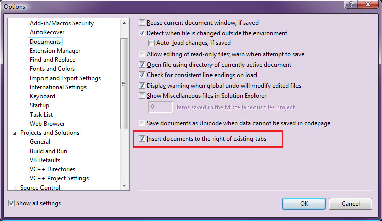 visual studio 2015 sync with active document