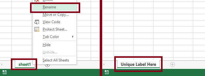 how to rename a document of excel online