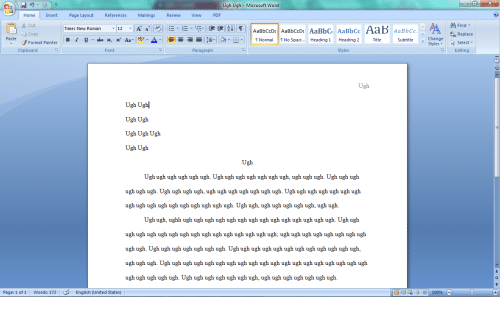 word document changes format when reading view