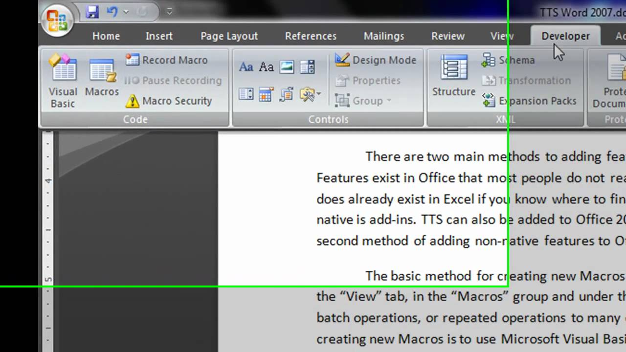 how to search word 2007 document