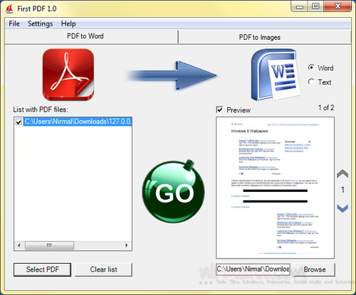 convert pdf file to word document free download