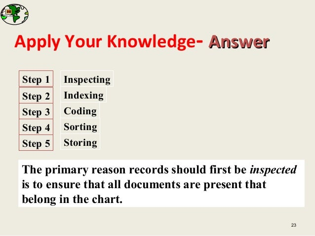 document records retention filing system