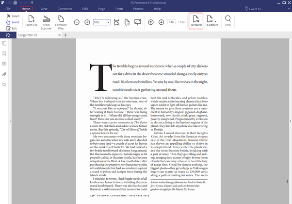 how do you convert pdf file to word document