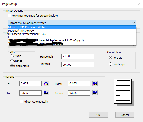 how to print with xps document writer