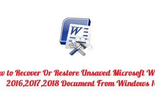 how to recover unsaved word document mac os sierra