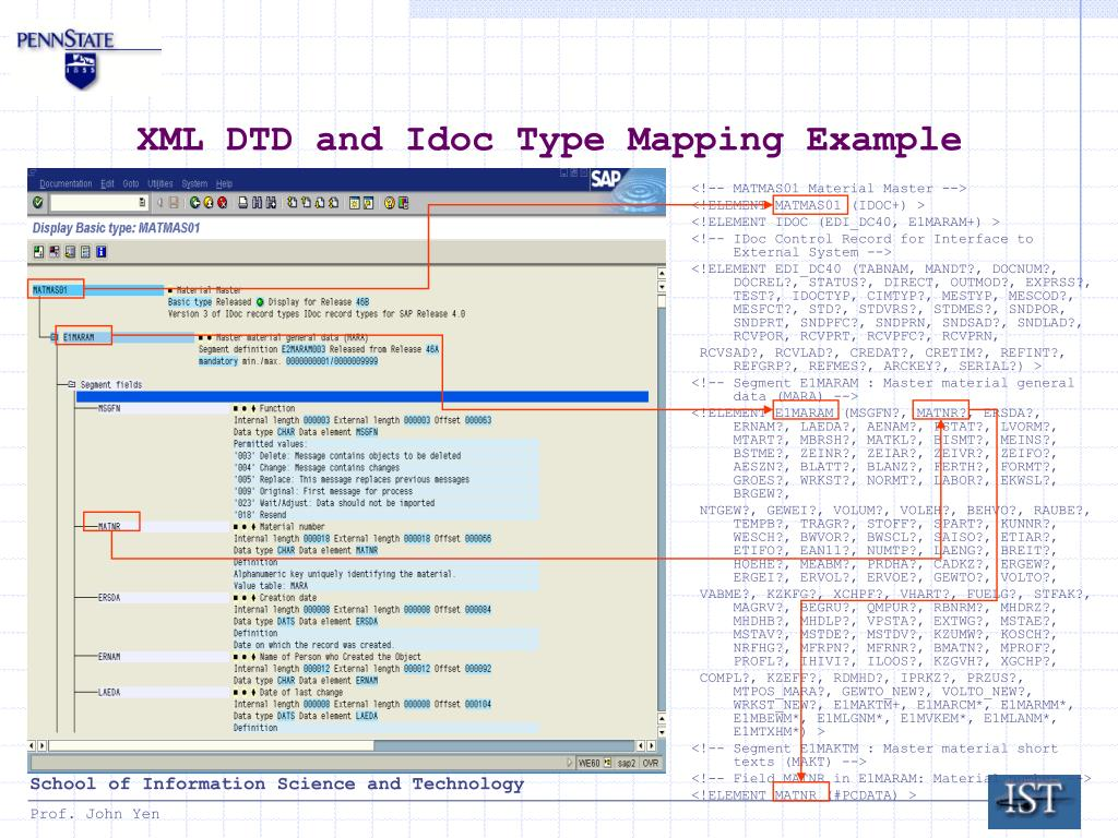 what is the xml document structure
